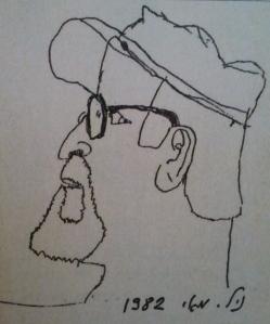דיוקן שציירתי את אבי בהיותי בן 8