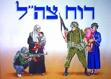 האיור ממחיש היטב את המדרג המופיע כאן, אזרחינו-חיילינו-אזרחיהם-חייליהם, אך לא את צורת ההתמודדות הנכונה עמו. אם רובה הגליל של החייל הישראלי ימשיך להיות מכוון לשמים, ימותו החייל והאזרחית.